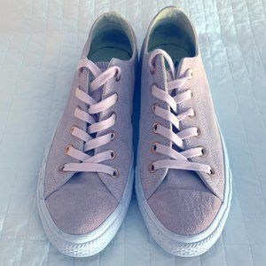 Converse Suede Pink Sneakers Rose Gold Accents